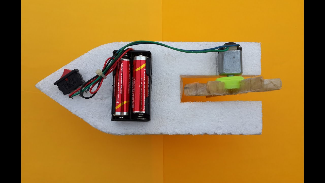 how to make a simple toy boat with dc motor at home youtube