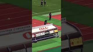 2018/6/9 京都サンガFCvs松本山雅FC (西京極) 試合前にレイザーラモンRG...