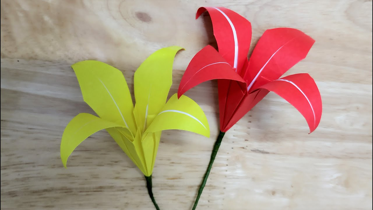 Cách gấp hoa ly bằng giấy origami – HD handmade