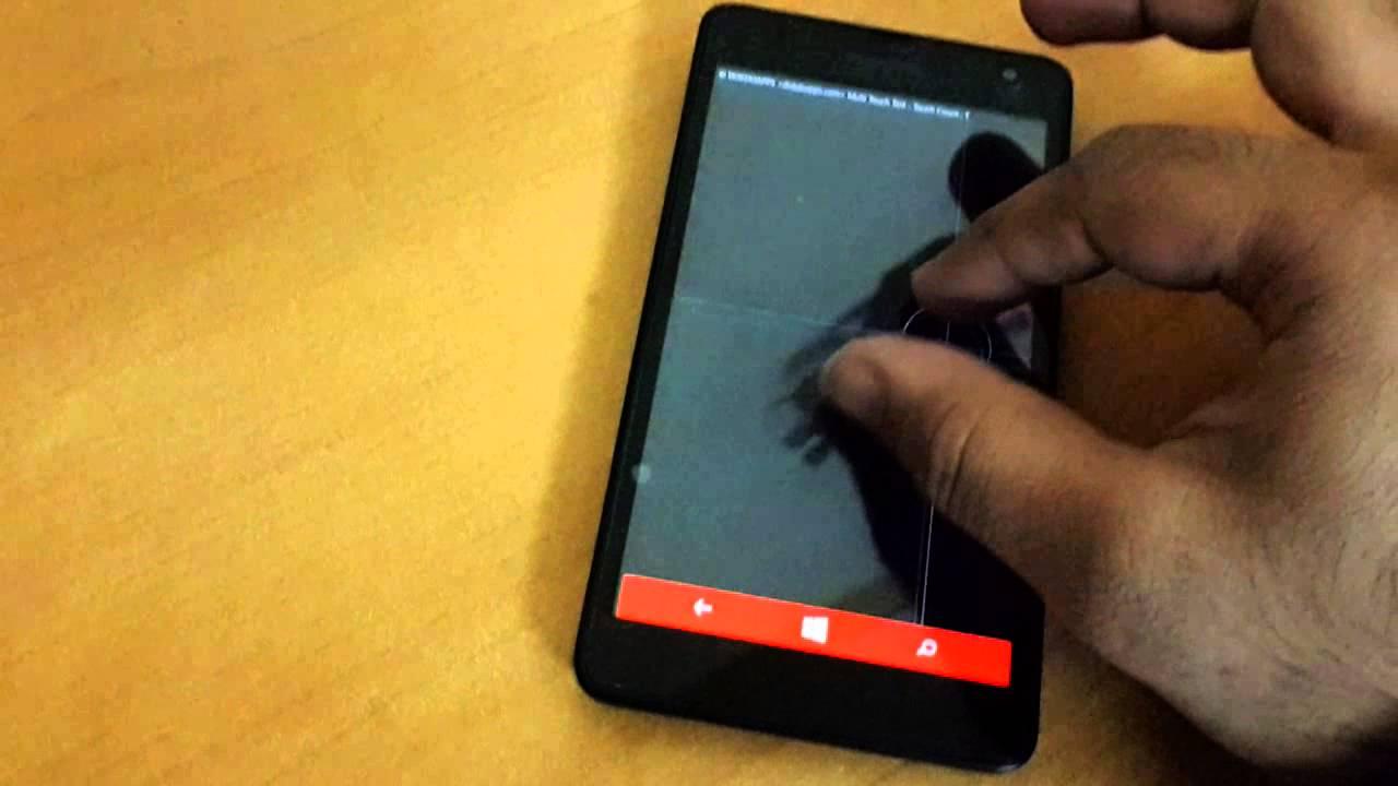 Lumia 535 screen sensitivity problem