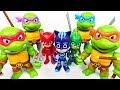 PJ Masks are dangerous! Cowabunga! Teenage Mutant Ninja Turtles! - DuDuPopTOY