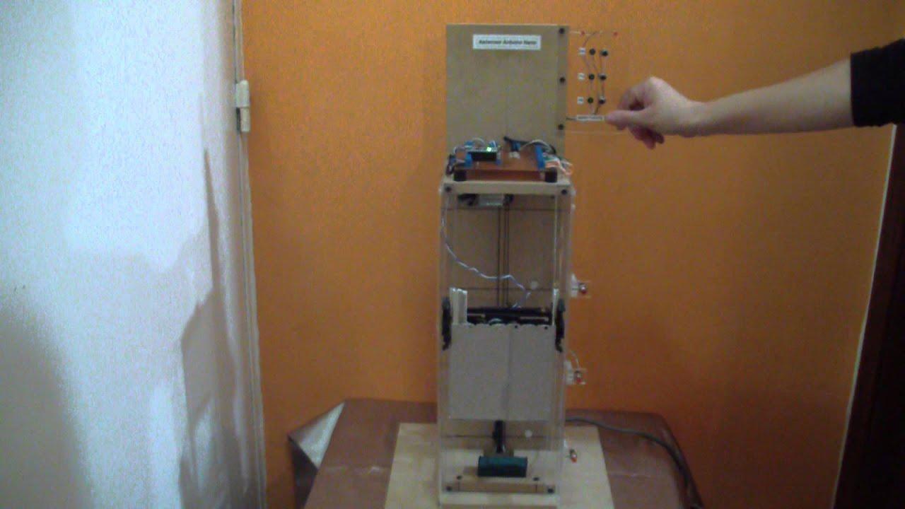 arduino nano ascensor de 2 pisos con puerta youtube