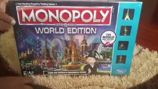 Monopoly Here and Now World Edition Unboxing