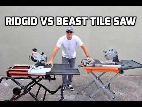 Ridgid Tile Saw VS Beast Tile Saw