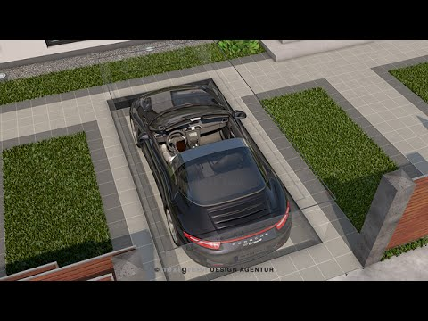 The targa parking garage design by nextgreen youtube for Design moderno garage per auto