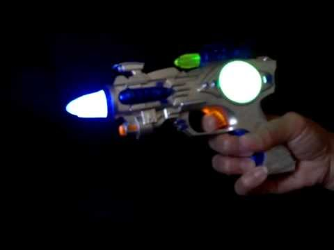 LED Light-Up Space Toy Gun With Sound Effects