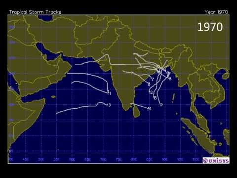 North Indian Ocean Tropical Cyclone Track Series for 1945 2013