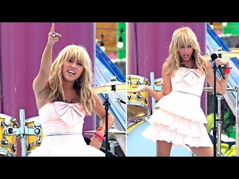 Miley Cyrus Rocks The Stage In Santa Monica [2008]