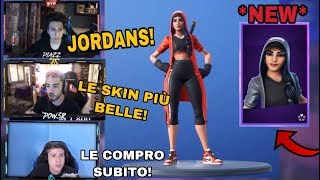 STREAMER REAGISCONO ALL *NUOVE* SKIN X JORDAN DI FORTNITE!