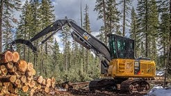 Cat 538 Log Loader Working in Oregon