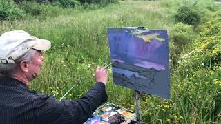Keuka Solstice - Oil painting on the Summer Solstice