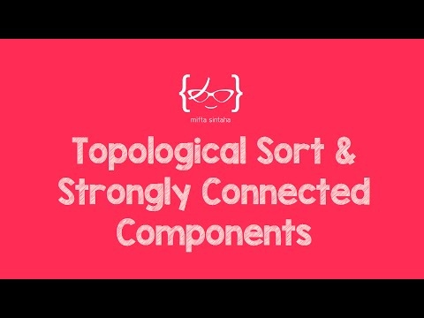 [Mean Stack Development] Topological Sort & Strongly Connected Components