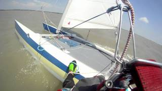 Dart 18 Catamaran sailing and Kiteboarding