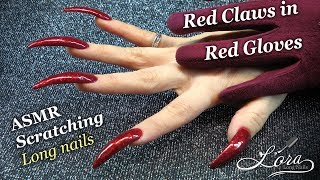 ASMR Red Claws in Red Gloves (tapping, scratching, no talking)