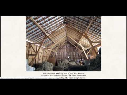 Amish Barn Design Allows It To Be Built In A Day