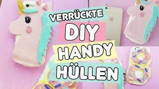 Verrückte DIY Handy Hüllen selber machen ◆ Einhorn 🦄   & Donut 🍩