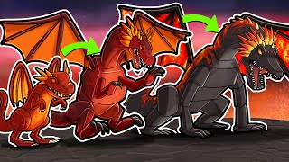 LAVA DRAGON TRANSFORMATION! (Minecraft Dragons)