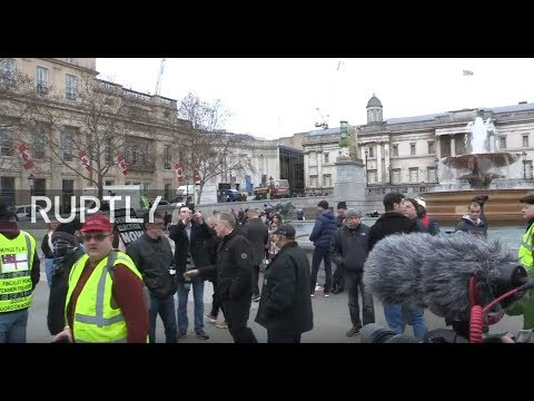 LIVE: Pro-Brexit 'Yellow vest' demo takes place in London