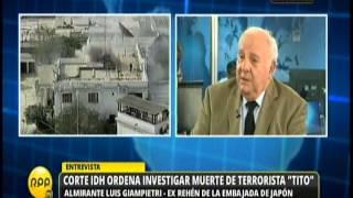 Giampetri sobre caso Chavín de Huántar (30/06/15)