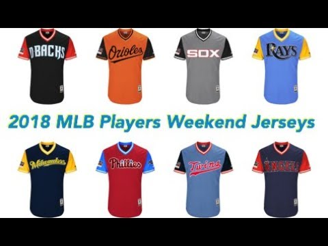792b794a Ranking all 30 MLB Players Weekend JERSEYS (2018 Edition) - YouTube