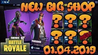 Fortnite New Item Shop 01.04.2019 Fortnite ITEM SHOP Daily Shop 1er avril New Skins