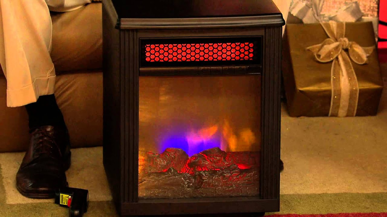 Twin Star Home Infrared Electric Quartz Fireplace Heater with Dan ...