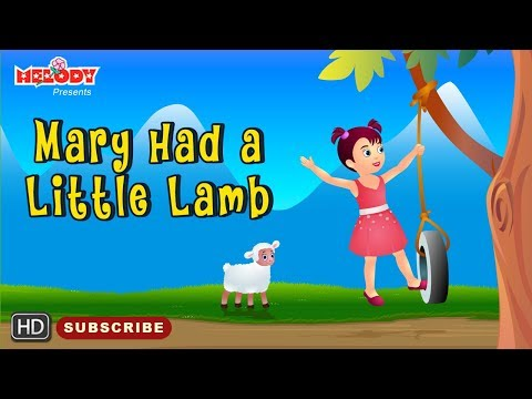 Mary had a liitle lamb with Lyrics | English Rhyme | Rhyme for Kids | Animated Rhymes