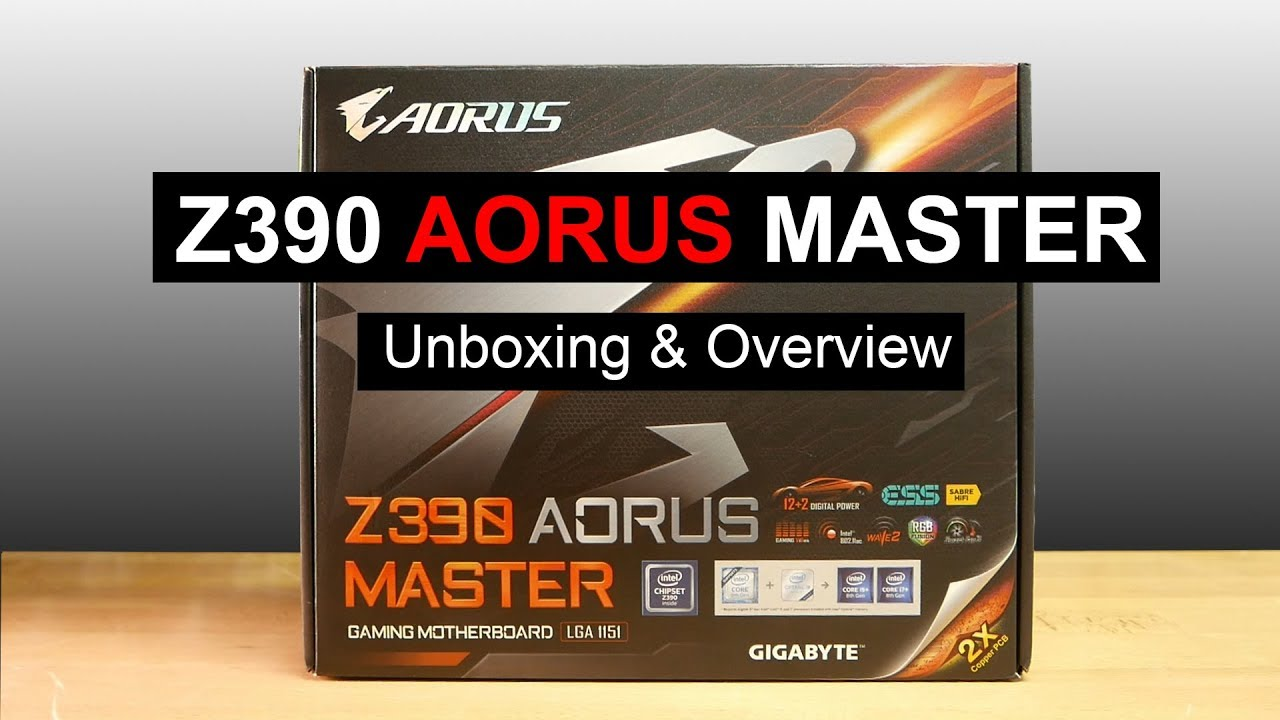Gigabyte Z390 Aorus Master Motherboard Unboxing & Overview
