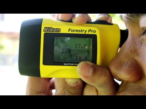 Nikon Laser Entfernungsmesser Forestry Pro : Nikon forestry pro laser range finder youtube
