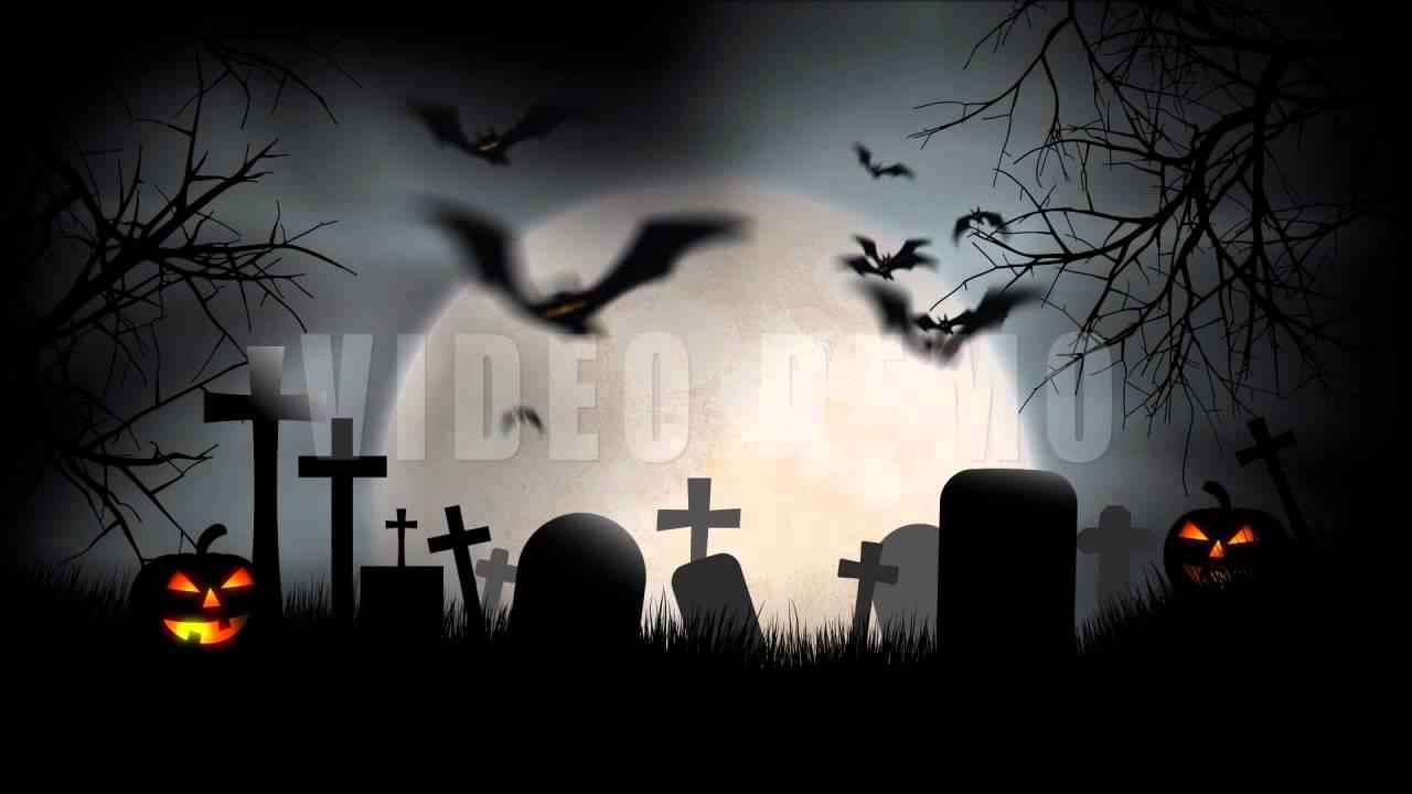 halloween graveyard full moon - youtube