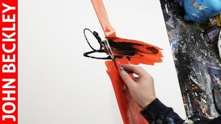 Abstract Art Painting Demonstration With Acrylics   Silia