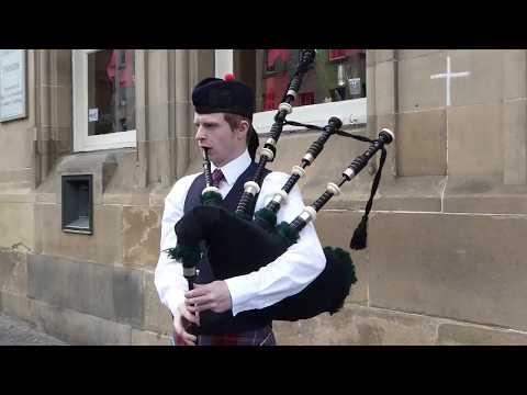 Bagpipes Music Busker High Street Edinburgh Scotland