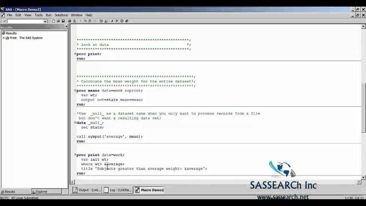 Sas Advance Training Tutorial Day 8 Macro Demo 2 In Sas Youtube