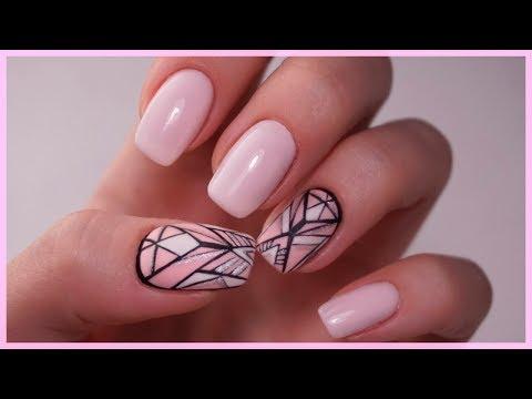 Геометрия гель лаком на ногтях