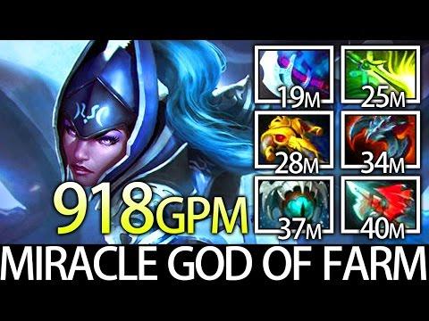 Miracle GOD of FARM 7.05 Meta Pro 9K MMR Carry Luna Dota 2
