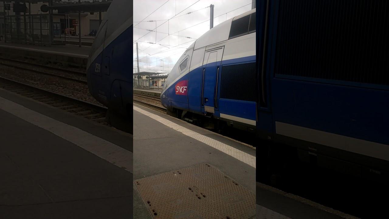 Depart Du Tgv 5312 Rennes Lyon Perrache Youtube