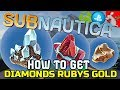 How To Find Diamonds In Subnautica PS4 Xb1 Plus Rubies And Gold!