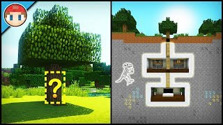 Minecraft: How to Build a Secret Base Tutorial (#3) - Easy Hidden House
