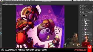 Dj CUTMAN-Streaming mit Adobe - Animierte Albumcover - Teil 1/3 - Cutman Spielt