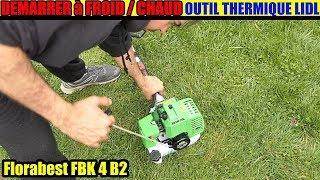 démarrer un moteur 2 temps lidl florabest outil thermique à essence FBK 4 B2
