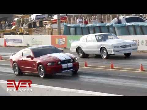 Ford Mustang GT 5.0 vs Chevrolet Montecarlo | Drag Race | 10 sec cars. 2da Piques Barranquilla 2018
