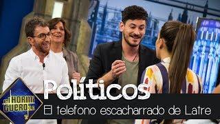 Cepeda y Ana Guerra al teléfono escacharrado más 'político' de Carlos Latre - El Hormiguero 3.0