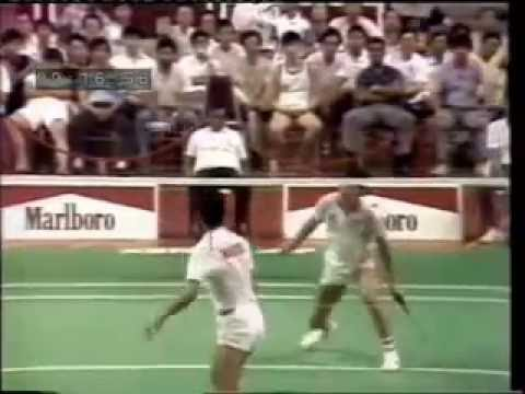 1988 Thomas Cup Badminton Final Classic Yang Yang Vs Misbun Youtube