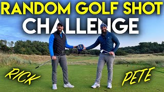 RANDOM GOLF SHOT CHALLENGE - Rick Shiels vs Peter Finch
