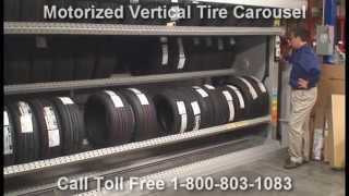 Motorized Tire Vertical Carousels | Rotating Tire Storage Machines Thumbnail