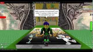 How to beat spongebob qui quiz on roblox by bobdraw67