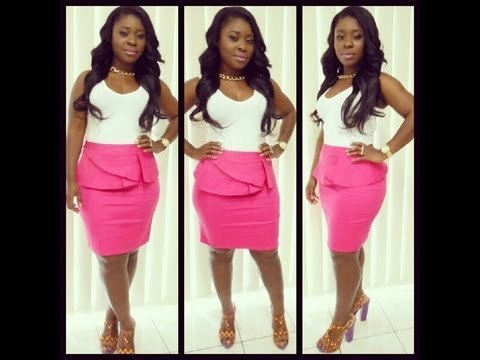 70ca0c4d1e Get Ready With Me + Outfit of the Day feat. Fuschia Pink Peplum Skirt