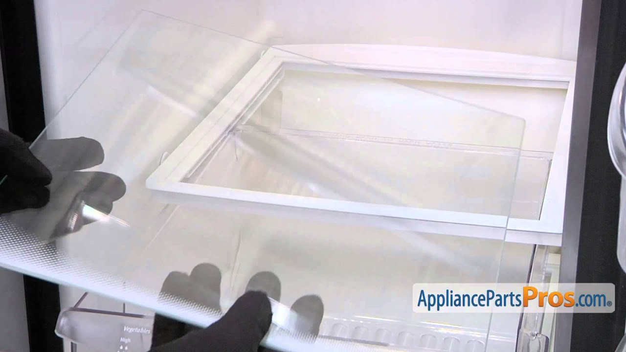 refrigerator glass shelf part 241711236 how to replace youtube rh youtube com shelves for fridge shelves for fridge freezer