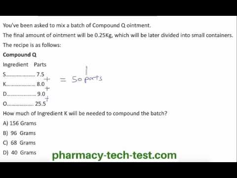 Pharm Tech Compounding Math
