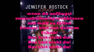 Jennifer Rostock - Lügen haben schöne Beine Lyrics